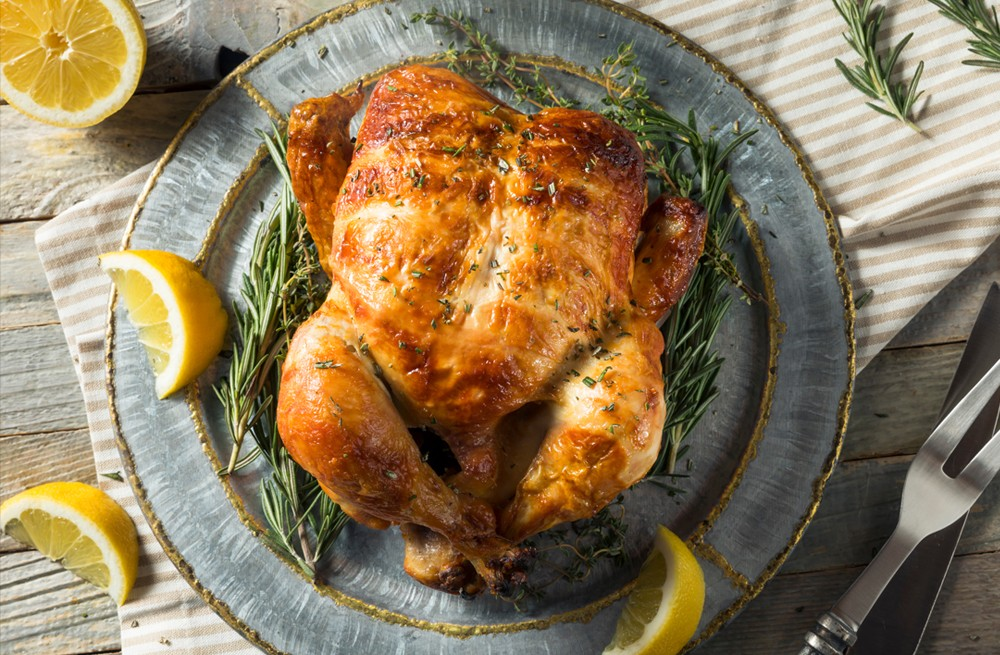 Whole Roasted Chicken With Lemon Recipe